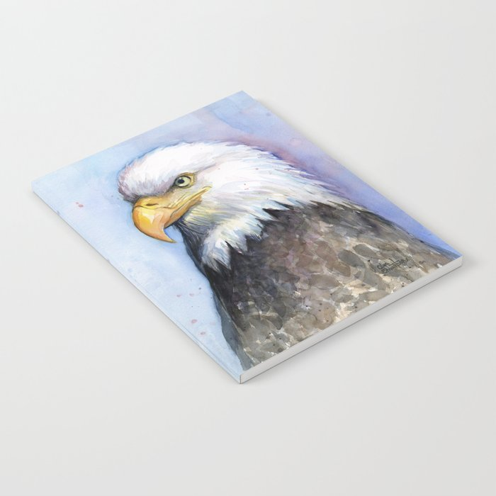 Bald Eagle Watercolor Bird Wildlife Animals Notebook