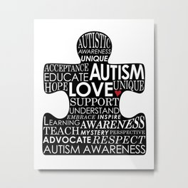 Autism Awareness Love Metal Print
