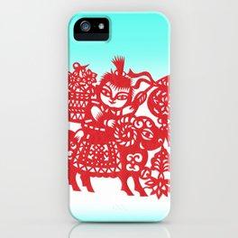 Little Boy on a Goat iPhone Case