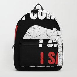 I Came I Saur I Conquered T Rex Backpack