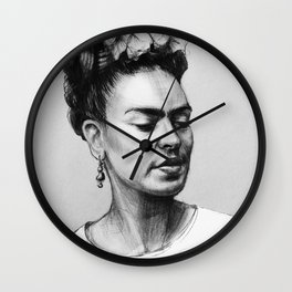 Portrait of Frida Kahlo Wall Clock