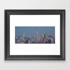 Manhattan Skyline - New York City Framed Art Print