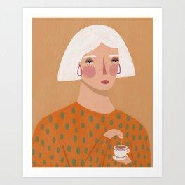Spill the tea Art Print