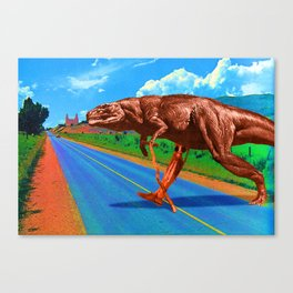 Its a long way from Amphioxus to the meanest human cuss Canvas Print