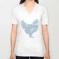 henna V-neck T-shirts featuring Henrietta's Henna by Farnell