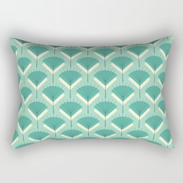 Mid-century Modern Radio Antenna Pattern / Teal Rectangular Pillow
