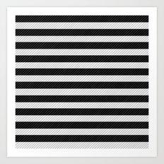 Sleepy Black and White Stripes Art Print