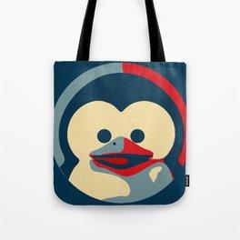 Linux tux penguin obama poster baby  Tote Bag