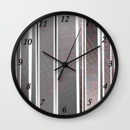 Vertical poppies S14 Wall Clock