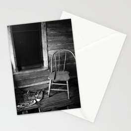 Old Chair in an Abandoned House Stationery Cards