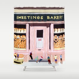 Sweetings Bakery Shower Curtain