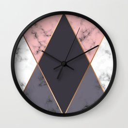 Marble Geometry 018 Wall Clock