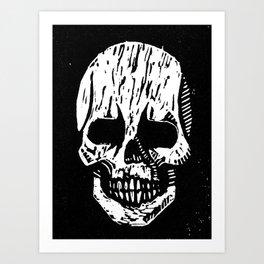 Woodcut Skull Art Print