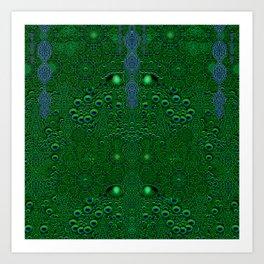 Dragon abstracte skin pattern Art Print