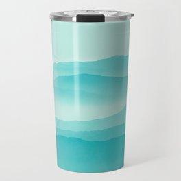 mint sunrise layers Travel Mug