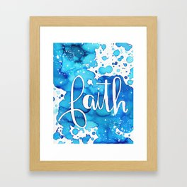 FAITH watercolor Framed Art Print
