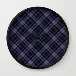 Scottish tartan #42 Wall Clock