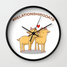 Relationship Gifts Goats Wall Clock