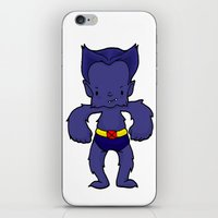 xmen iPhone & iPod Skins featuring BEAST by Space Bat designs