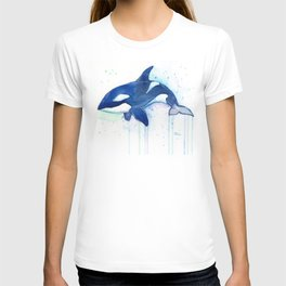 Killer Whale Orca Watercolor T-shirt