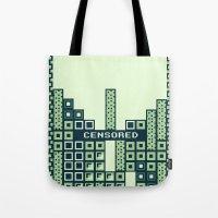 tetris Tote Bags featuring tantric tetris. by dann matthews