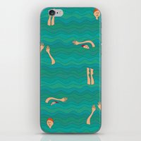 swimming iPhone & iPod Skins featuring Swimming by Mimi
