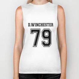 Winchester Dean Supernatural Short Sleeve Two Tone White Grey Gray Tee Clothing tattoo Biker Tank