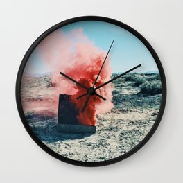 PINK SMOKE - SUIT CASE Wall Clock