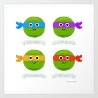 ninja turtles Art Prints featuring Teenage Mutant Ninja Turtles by Chris Chatterton