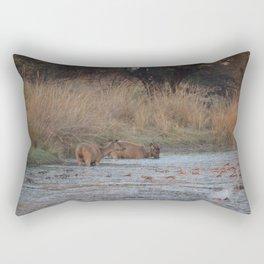 Wildlife Bathtube Time Rectangular Pillow