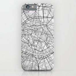Paris City Map of France - Light iPhone Case