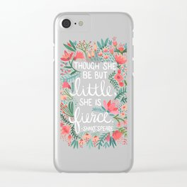 Little & Fierce Clear iPhone Case