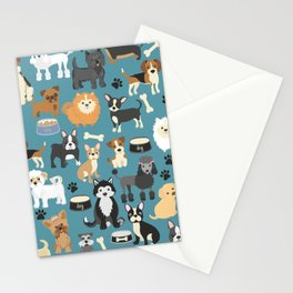 Cute Puppies Little Dogs Stationery Cards