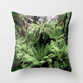 Ferns & Waterfall Throw Pillow