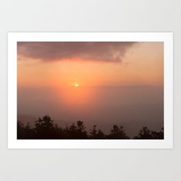 Smoky Mountain Sunset 2 Art Print