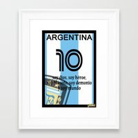 argentina Framed Art Prints featuring argentina by John Sideris