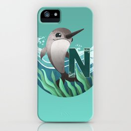 N is for Narwhal iPhone Case