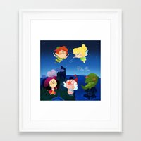 peter pan Framed Art Prints featuring Peter Pan by UniverseSunny