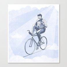 Bike and Coffee (Heaven) Canvas Print