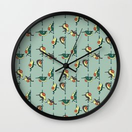 Avocados Pole Dancing Club Wall Clock
