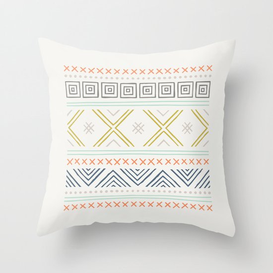 Into the West - in Mixed Earthtones Throw Pillow