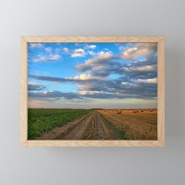 Farm Landscape Framed Mini Art Print