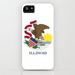 Illinois State Flag, authentic color & scale iPhone Case
