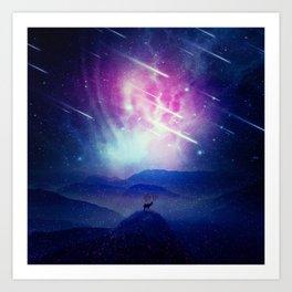 Majestic Cosmic Guardian Art Print