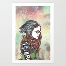 Dragon girl Art Print