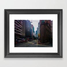 Hong Kong Triangle Framed Art Print