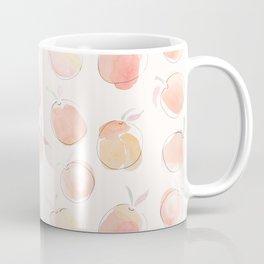 Summer Peaches Fruit Pattern Coffee Mug