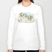 rushmore Long Sleeve T-shirts featuring Mont Rushmore - United States by Dues Creatius