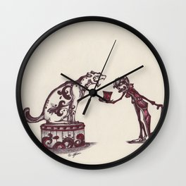 The Ringmaster and his Feline friend Wall Clock