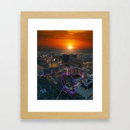 Sunset in Vegas Framed Art Print